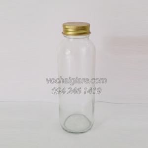 chai thủy tinh trụ 300ml nắp nhôm