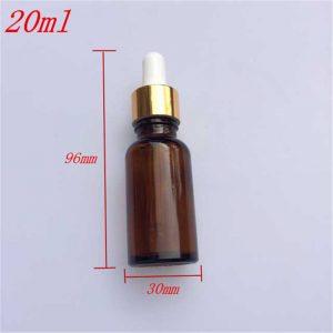 Chai tinh dầu 20ml màu nâu