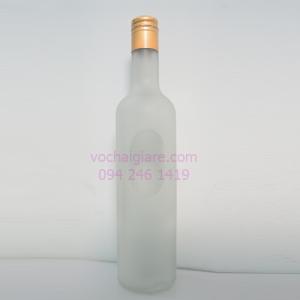 chai thủy tinh mờ 500ml