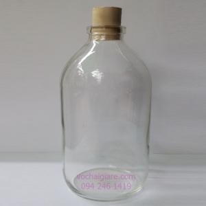 chai thủy tinh nút bần 500ml