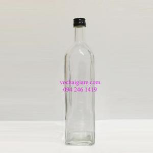 chai thủy tinh vuông 1l