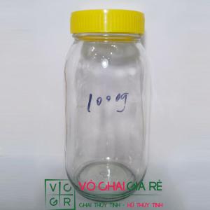 hũ thủy tinh 830ml nắp nhựa