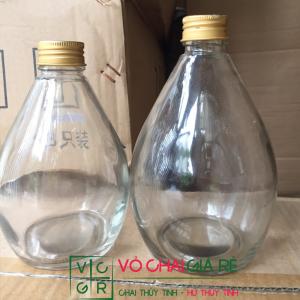 chai thủy tinh 500ml giọt nước