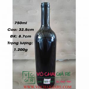 chai thủy tinh cao cấp rượu vang