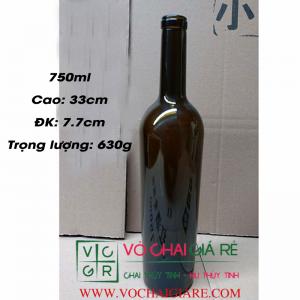 chai thủy tinh rượu vang 750ml